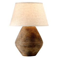 Troy Lighting Calabria Rustco Table Lamp with Empire Shade