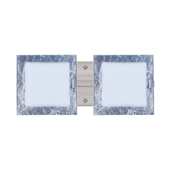 Modern Bathroom Light Silver Glass Satin Nickel by Besa Lighting