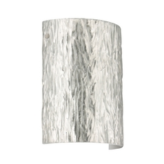 Modern Sconce Wall Light Silver Glass Satin Nickel by Besa Lighting
