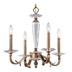Crystorama Lighting Hugo Roman Bronze Mini-Chandelier