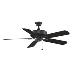 Fanimation Fans Edgewood Black Ceiling Fan Without Light