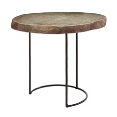 Short Stone Slab & Wire Frame Table
