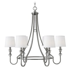 Hinkley Morgan 6-Light Chandelier in Antique Nickel