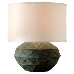 Troy Lighting Patina Verde Table Lamp with Drum Shade