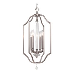 Crystorama Lighting Hugo Pewter Pendant Light