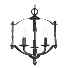 Progress Lighting Greyson Black Mini-Chandelier