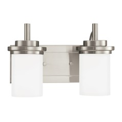 Sea Gull Lighting Winnetka Brushed Nickel LED Bathroom Light
