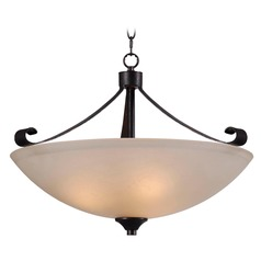 Kenroy Home Lighting Alto Chocolate Caramel Pendant Light