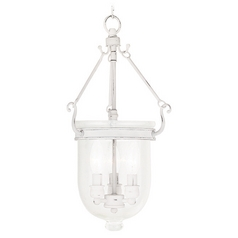 Seeded Glass Mini-Pendant Light White Livex Lighting