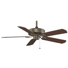 Fanimation Fans Edgewood Aged Bronze Ceiling Fan Without Light