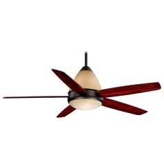 Fresco Oil Burnished Bronze Ceiling Fan with Light by Vaxcel Lighting