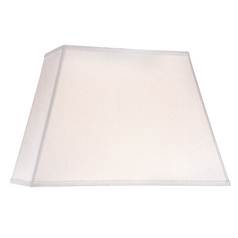 White Linen Rectangle Lamp Shade with Spider Assembly