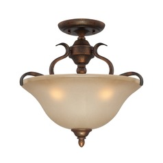 Craftmade Mckinney Burleson Bronze Semi-Flushmount Light