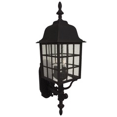 Craftmade Lighting Grid Cage Matte Black Outdoor Wall Light
