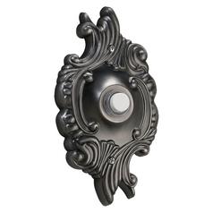 Quorum Lighting Antique Silver Doorbell Button