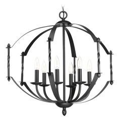 Progress Lighting Greyson Black Chandelier