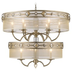 Golden Lighting Coronada White Gold Chandelier