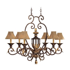 Chandelier Light in Golden Bronze Finish - Shades Not Included