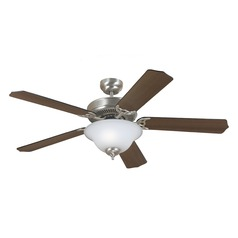 Sea Gull Lighting Quality Max Plus Brushed Nickel Ceiling Fan with Light