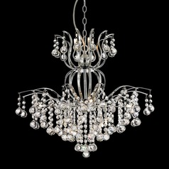 Lite Source Epiphany Chrome Crystal Chandelier
