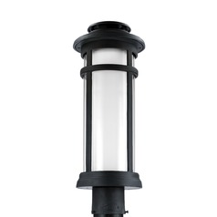 Feiss Lighting Oakfield Dark Weathered Zinc LED Post Light