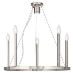 Livex Lighting Alpine Brushed Nickel Chandelier