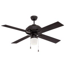 Craftmade Lighting South Beach Flat Black Ceiling Fan with Light