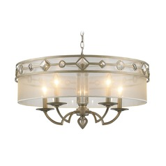 Golden Lighting Coronada White Gold Pendant Light