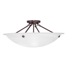 Livex Lighting Oasis Bronze Semi-Flushmount Light