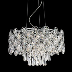 Lite Source Cashlin Chrome Pendant Light
