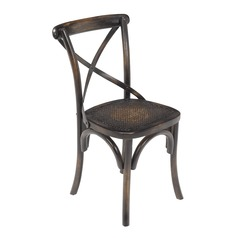 Antique Rattan Side Chair