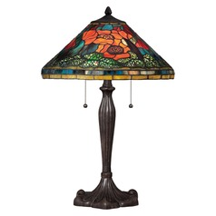 Quoizel Tiffany Imperial Bronze Table Lamp with Conical Shade