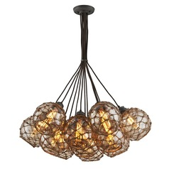 Troy Lighting Outter Banks Shipyard Bronze Pendant Light with Globe Shade