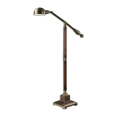 Pharmacy Floor Lamp in Antique Bronze Finish