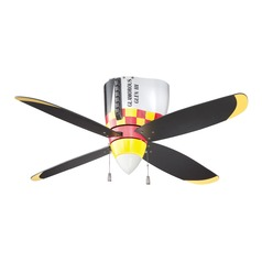 Craftmade Lighting Warplanes Glamorous Glen Ceiling Fan with Light