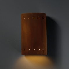 Outdoor Wall Light in Real Rust Finish