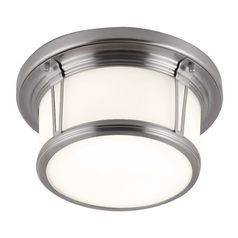 Feiss Lighting Woodward Brushed Steel Flushmount Light