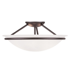 Livex Lighting Newburgh Bronze Semi-Flushmount Light