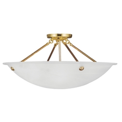 Livex Lighting Oasis Polished Brass Semi-Flushmount Light