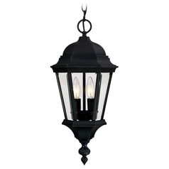 Savoy House Textured Black Outdoor Hanging Light