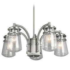 Kichler Lighting Lyndon Brushed Aluminum Outdoor Chandelier