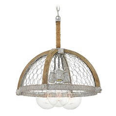 Farmhouse Edison Bulb Pendant Light Zinc 19-Inch by Hinkley Lighting