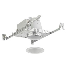 4-Inch New Construction Recessed Light Kit with White Trim