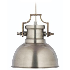 Kenroy Home Lighting Nautilus Antique Nickel Mini-Pendant Light