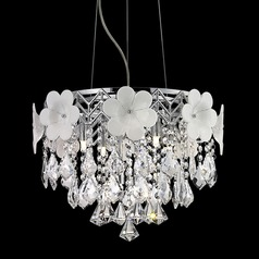 Lite Source Daisy Chrome Pendant Light