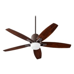 Quorum Lighting Metro Oiled Bronze Ceiling Fan with Light