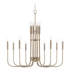 Capital Lighting Zander Aged Brass Chandelier