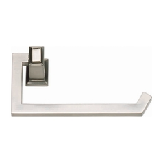 Modern Toilet Paper Holder in Brushed Nickel Finish