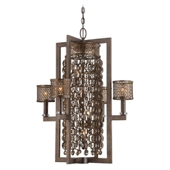 Drum Chandelier Light in French Bronze Finish