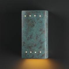 Outdoor Wall Light in Verde Patina Finish